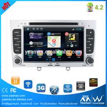 peugeot 407 car radio navigation system with Car DVD player Bluetooth digital tv car gps maps download
