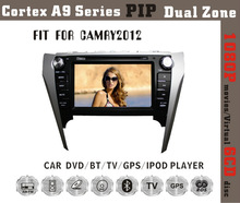 Fit for Toyota camry 2012 cortex A9 1GB CPU 1080P BT TV GPS IPOD double din car gps dvd