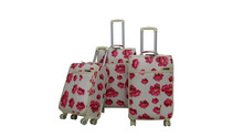 colorful flower Carry on Spinner 4 Wheeled Upright Luggage bag