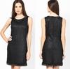 2014 Elegant Sleeveless Black Lace Brocade Woman Pencil Dress