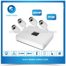 Home security economic H.264 Mini IP 720P POE NVR Kit
