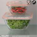 Asc8125-400ml 13.51oz sandviç öğle depolama cam gıda konteyner kase! Toptan seti dekoratif fırın kapaklı cam kase