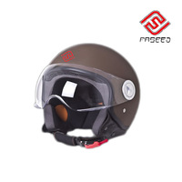 Urban jet helmet FS-701 with leather covered with competitive prices and ECE certificate