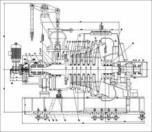 sichuan dongturbo generatore della turbina a vapore per centrale termoelettrica