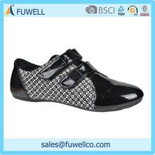 PU canvas buckle strap shoes men casual 2015