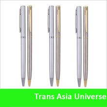 Hot Sale Custom cheap promotional slim pen gold