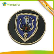 2014 black ,golden ,blue earth round metal souvenir commemorative coin