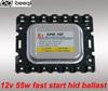 12v 55w super slim hid xenon ballast ,slim 55w hid ballast