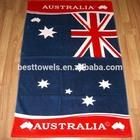 Flag design reactive printed beach towel