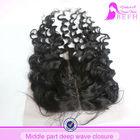 Factory direct wholesale cheap virgin human hair lace closure brazilian deep wave