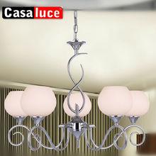 Metal chandelier art glass pendant lamp