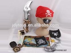 Hot Sale kids pirate mini toy,pirate costume and pirate flag,pirate set pirate