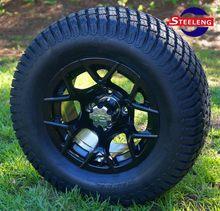 2015 NEW Pattern Steeleng aluminum golf cart wheels glossy black