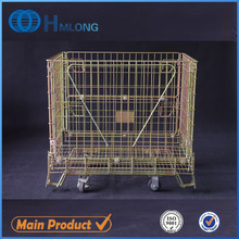Galvanized heavy duty basket wire cages with wheels