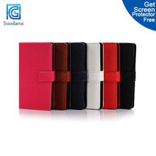 Book Wallet flip leather case for nokia lumia 925 flip cover -- suodarui