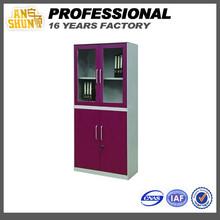Luoyang ANSHUN furniture cabinet cupboard 3-door grey red steel locker