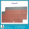 Rojo de china 3-tab las tejas de asfalto para los materiales del techo