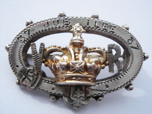 Victorias Jubilee Silver & Gift Crown Souvenir Pin Brooch 50 years souvenir
