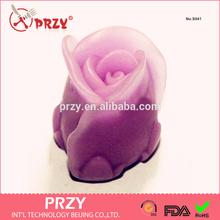 3d de silicona rosa de jabón y el moho vela