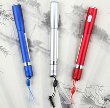 2014 novel design metal banner pen with LED light