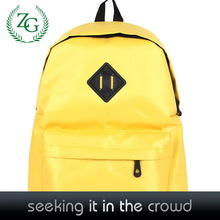Fashion Yellow Nylon back to school bags made in china