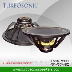 15'' neodymium audio line stage speaker made in china