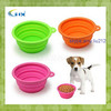 G-2014 Eco-friendly Reusable Food Grade Silicone Folding Dog Bowl, Super Travel Dog Bowl