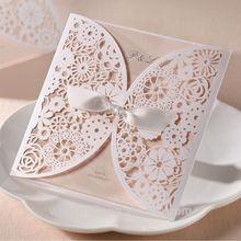 Best Sales Elegant Laser Cut Wedding Invitation Card BH2065