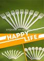 100% Biodegradable composable CPLA cubiertos