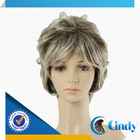 good looking short style grey curly chinese hair wig for young asian women