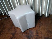 leather round ottoman stool