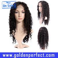 Brazilian hair elastic band kinky curly for black women full lace glueless wig
