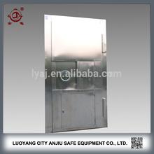 Fire proof used metal security stainless steel door