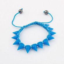 fashion plastic rivets beads handmade stretch friendship bracelet