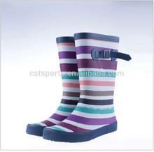 Girls pink fashion high heel soft rubber rain boots