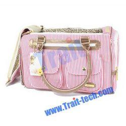 Pretty Stripe Pattern Pet Dog /Cat Bag Fashion Convenient Pet Carrier Tote Bag