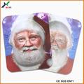 la costumbre de impresión en relieve 3d santa claus máscaras de fiesta