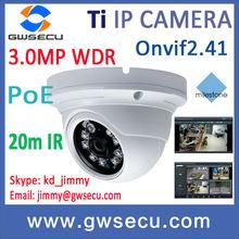 3 Megapixel True WDR eye ball dome ip camera, p2p Onvif hd poe Russian language GUI