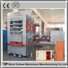 Hot Press Type and New Condition mdf door veneer laminating machine