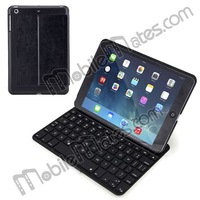 BT Keyboard with backlight for iPad, Flip PU+Aluminum Hard Bluetooth Keyboard Case for iPad Mini 2 Retina