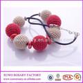 2014 moda fatti a mano uncinetto collana di perline maglione catena collana xwx-1840