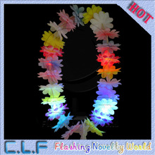 new product light up artificial flower garland LED hawaiian flower necklace