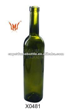 green glass bottles for alcohol drink