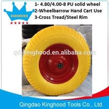 Flat Free wheelbarrow tyre 4.80/4.00-8 Solid Pu Foam Tire