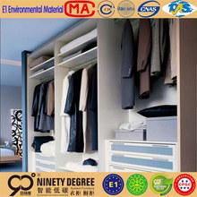Maple solid wood coffee glazing designed modular and sliding bedroom wardrobe design