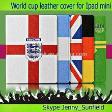 Tablet case football team pu folio leather case for ipad mini , for ipad case leather folio ,for ipad mini case folio