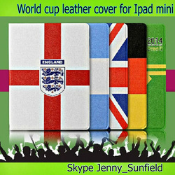 Tablet case football team pu folio leather case for ipad mini , for ipad case leather folio ,for ipad mini case folio