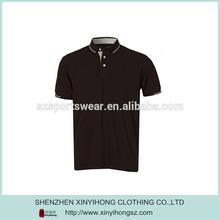 Eco Friendly 100% Cotton Comfortable Mens Plain Golf Polo Shirt In Coffee