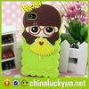 Funny and beautiful cartoon 3D silicone mobile phone case covers for iphone 6 China supply