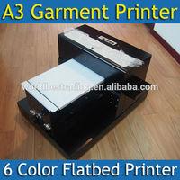 [WORLD BEST] A3 Cheap Garment Printer Flatbed Textile Printer Textile Fabric Printing Machine
